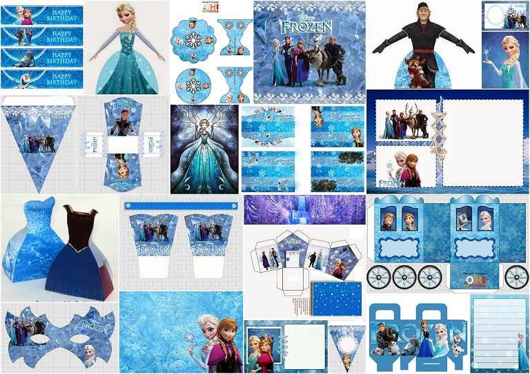 image about Free Frozen Printable identify Frozen Get together: Free of charge Printables. - Oh My Fiesta! within just english