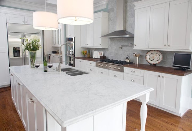 white marble kitchen countertops design ideas