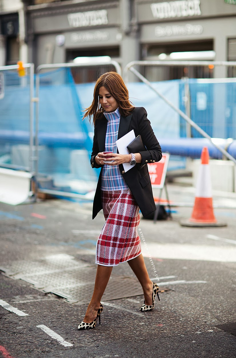 Plaid on plaid street style