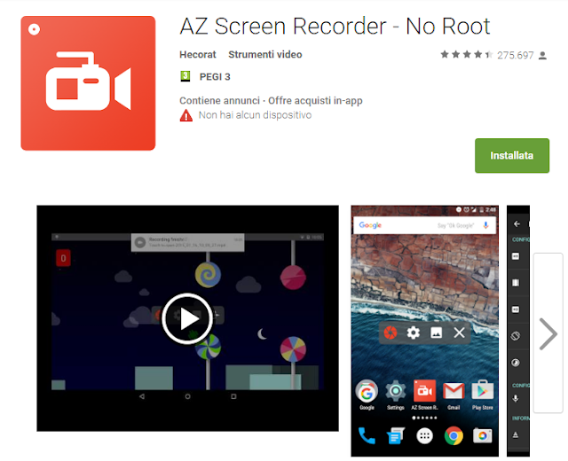 AZ Screen Recorder - No Root screen-shot