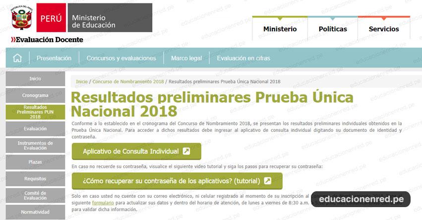 MINEDU: Resultados Examen Nombramiento Docente 2018 (23 Octubre) Resultados Preliminares - www.minedu.gob.pe