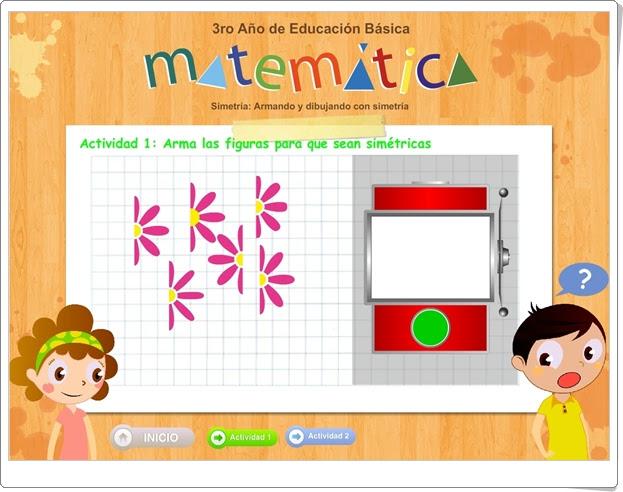 """""""Armando y dibujando con simetría"""" (Juego de Geometría de Primaria)"""
