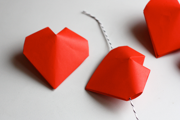 3d origami hearts | how about orange, Ideas