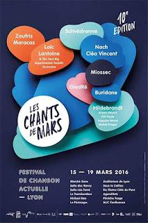 Les Chants de Mars - festival - chanson actuelle - Mars 2016 - Lyon