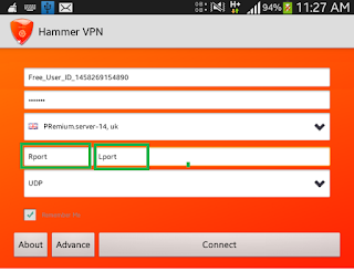 Hammer Vpn Settings For Globe & Airtel