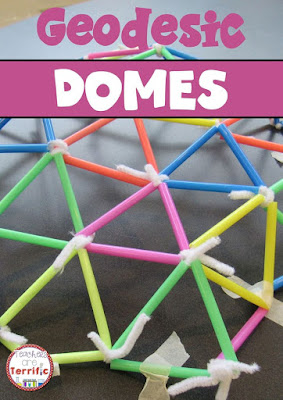 STEM Challenge: Building domes in the STEM Lab! A very mathematical challenge with a lot of trial and error! Includes measuring, geometry, and more! Check the blog post for more photos!