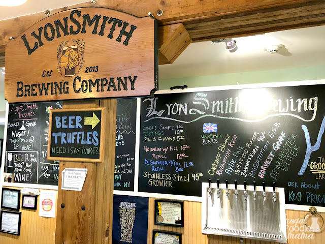 Taking inspiration from the styles of beer you would find in the United Kingdom, Lyonsmith Brewing in Penn Yann, New York offers 8 taps at any one time.