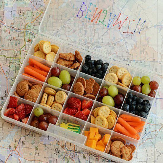 Yapı marketlerden alabileceğiniz plastik bölmeli kutulara istediğiniz yiyeceği yerleştirebilirsiniz