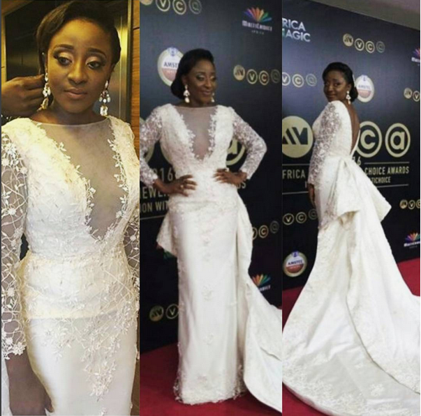 Fan Slam Ini Edo's AMVCA Dress, Say It Looks Like A