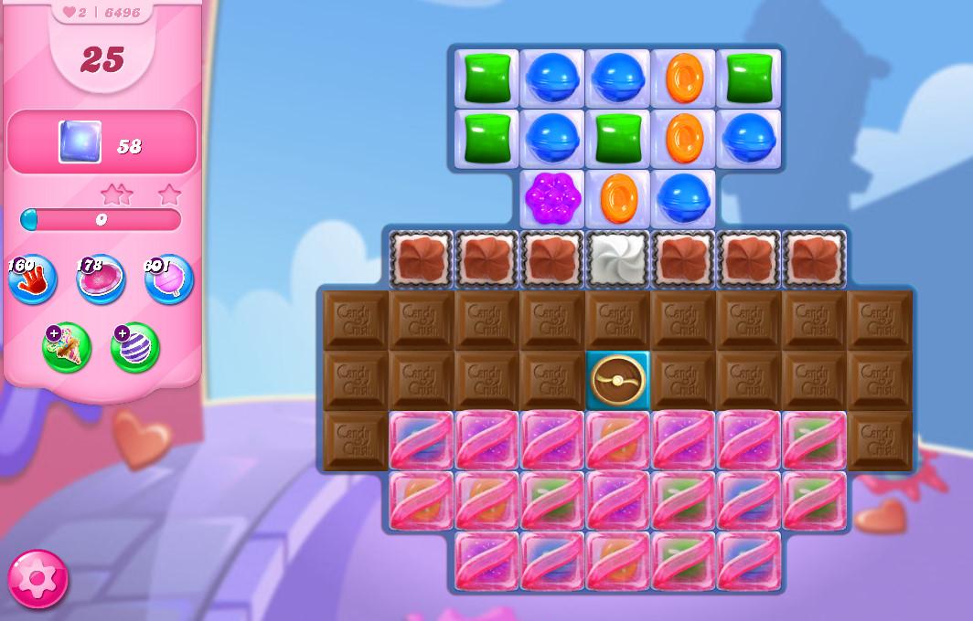 Candy Crush Saga level 6496