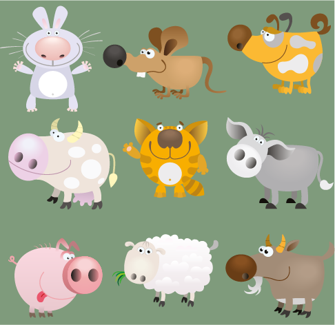 Animales de granja - cartoon vector
