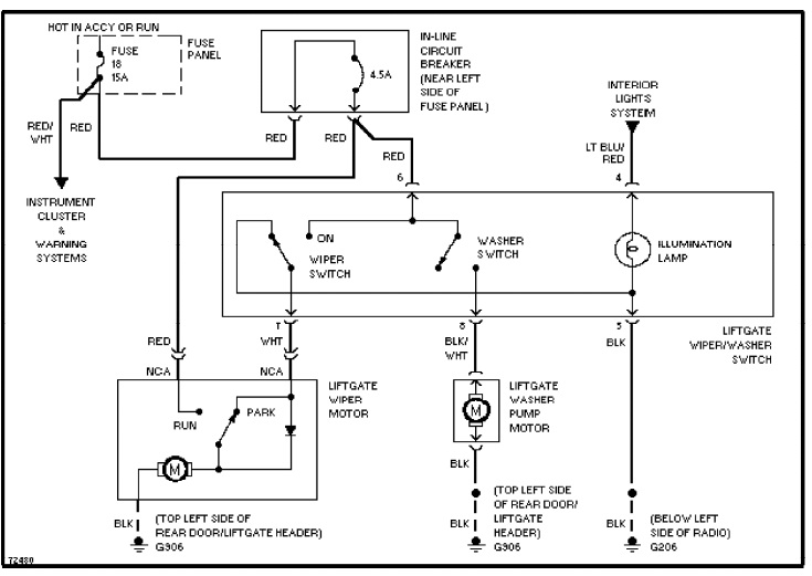 1995 Ford Aerostar Wiring Diagram  Wiring Diagram Service