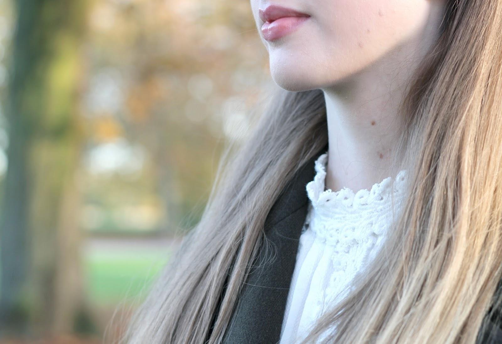 White crochet blouse by Zara