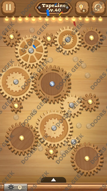 Fix it: Gear Puzzle [TapeLine] Level 40 Solution, Cheats, Walkthrough for Android, iPhone, iPad and iPod