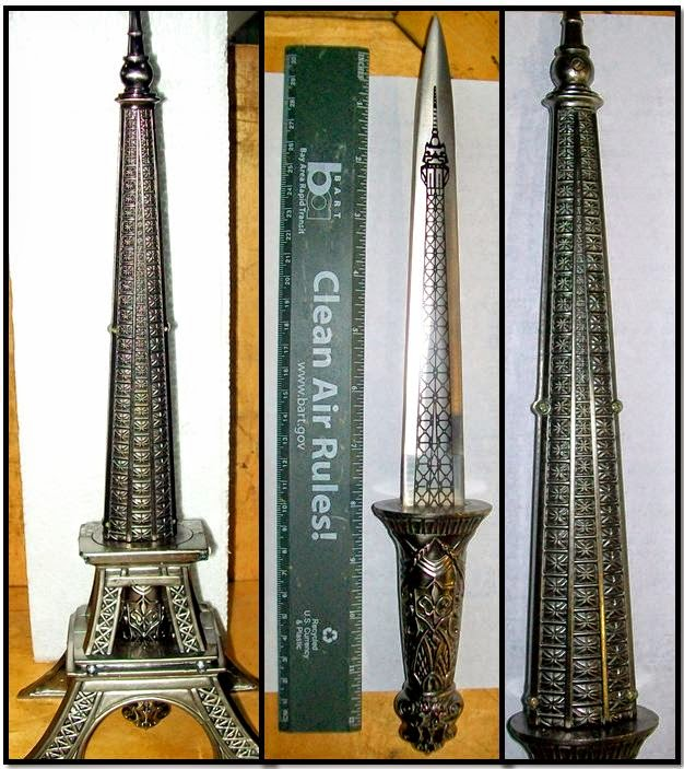 Knife concealed in an Eiffel Tower replica