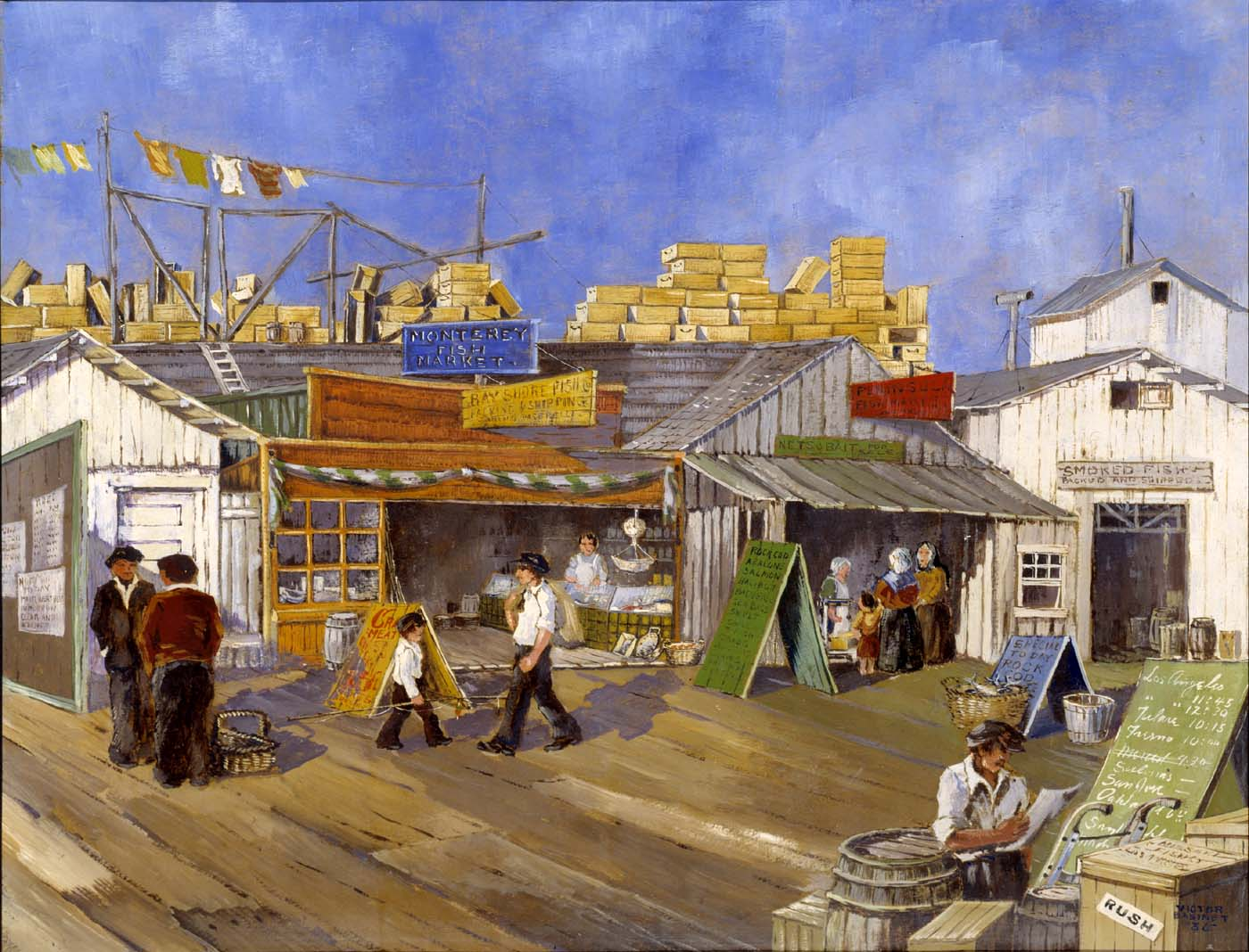 New deal of the day new deal art wharf markets of for Fish market monterey ca