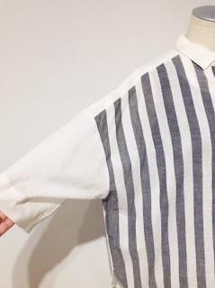 pas de calais【パドカレ】インドカディストライプシャツブラウス▼香川・綾川店