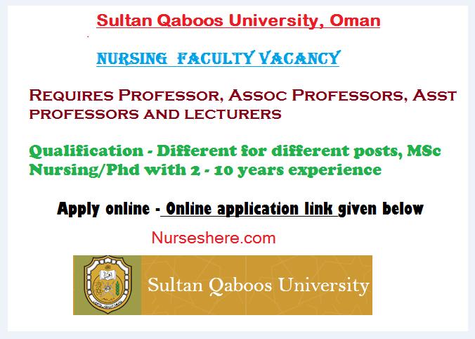 Oman MOH, Nursing Faculty Vacancy - Apply Online - June 2015