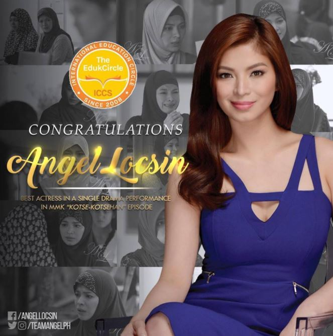 Angel Locsin Won The 7th EdukCircle Awards As The 'Best Actress In a Single Drama Performance' For MMK!