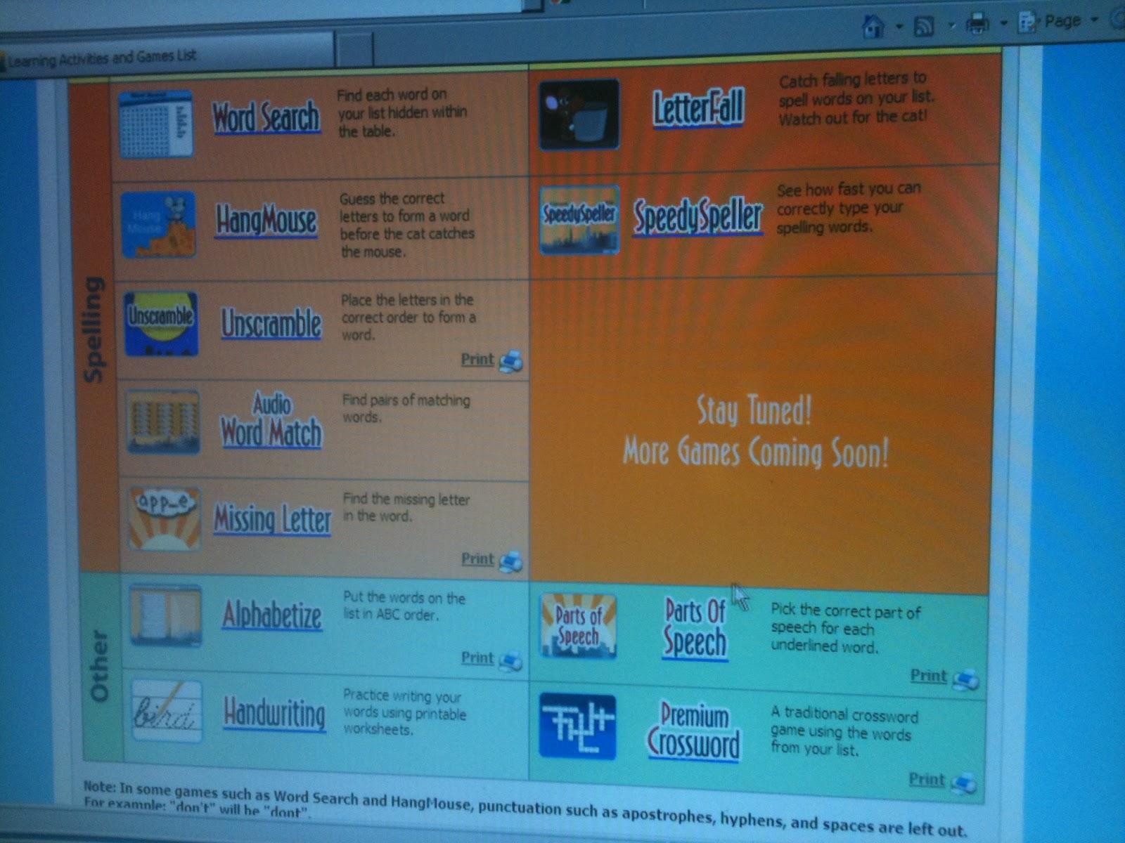 Homeschool Escapade Vocabulary Spelling City