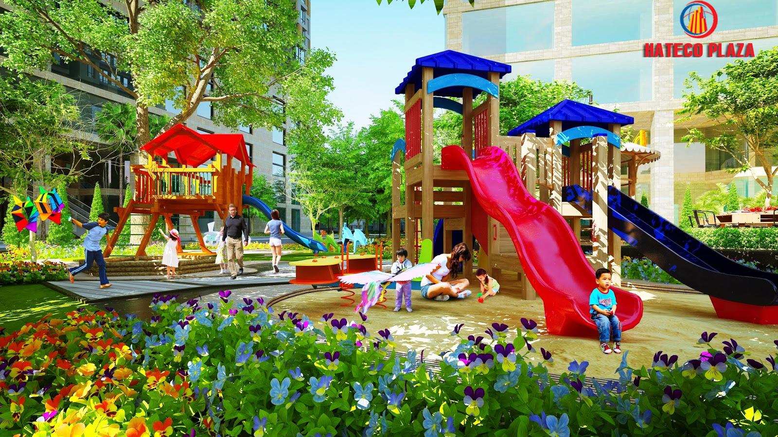 Tiện ích khu vui chơi trẻ em tại dự án Hateco Plaza