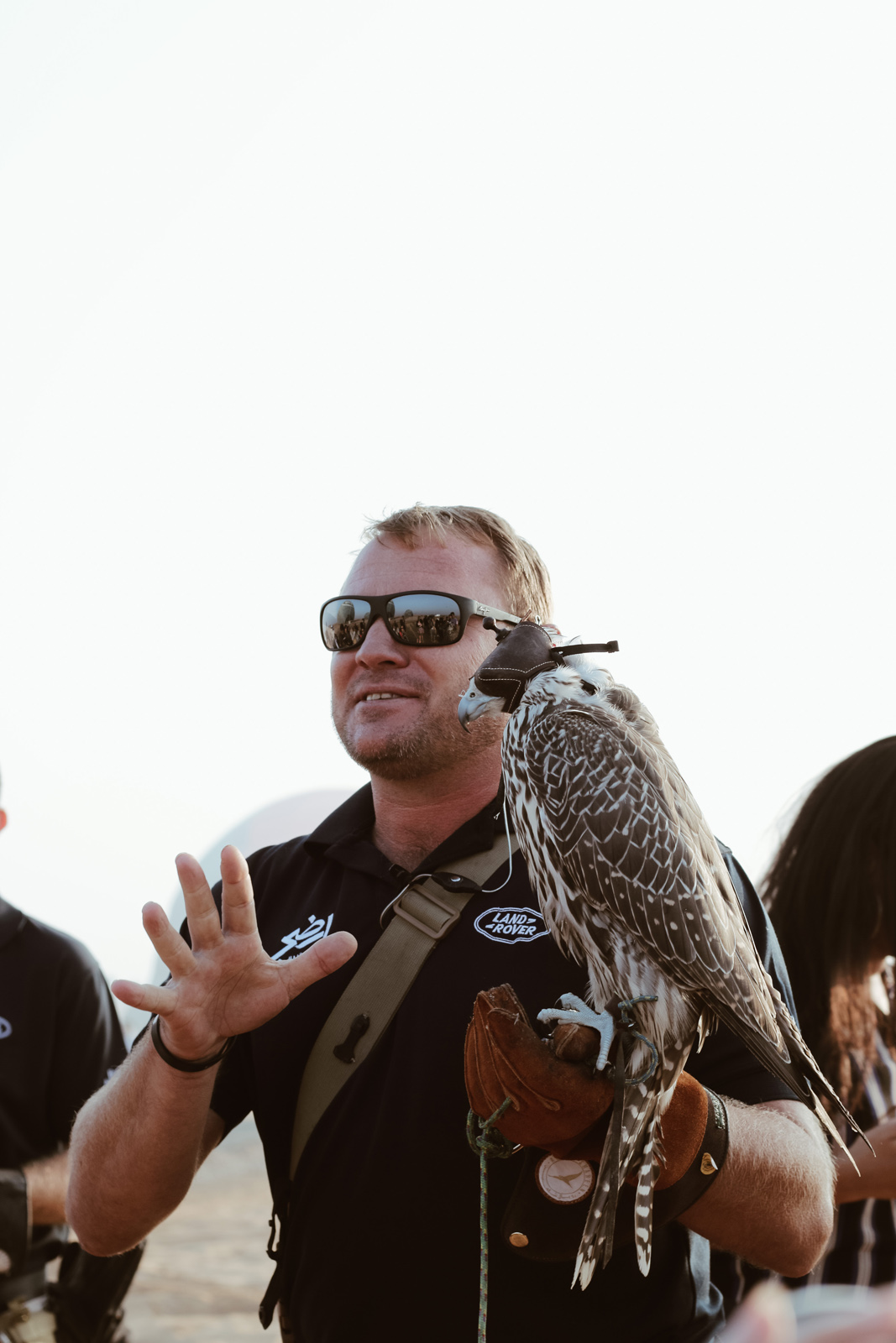 World-First Hot Air Balloon and Falconry Experience by Land Rover