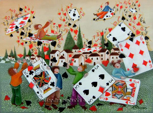 Donna e asso a poker