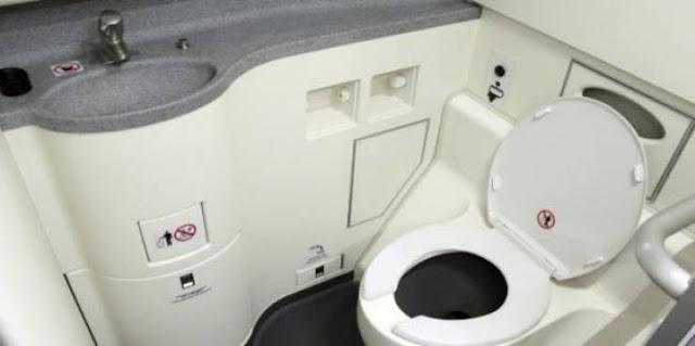 كيف تتخلص الطائرات من محتويات المراحيض بها؟ افراغ الطائرات محتويات مراحيضها خلال الرحلة في الهواء، غير صحيحة!