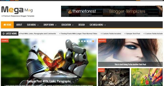 Download - Mega Mag V1.30 - Premium Responsive Blogger Template ...