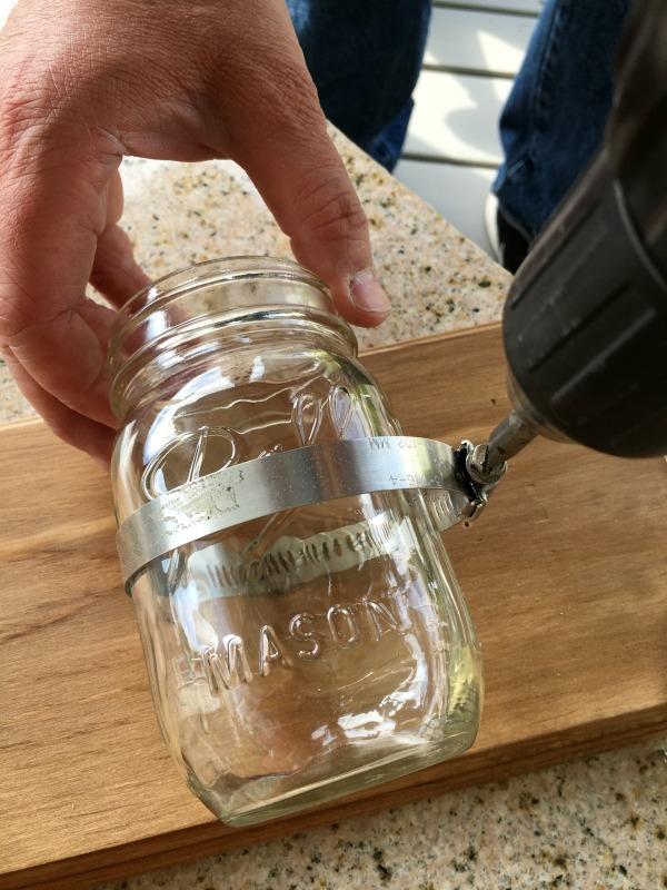 DIY: How to Make a Mason Jar Wall Organizer| Walking On ...