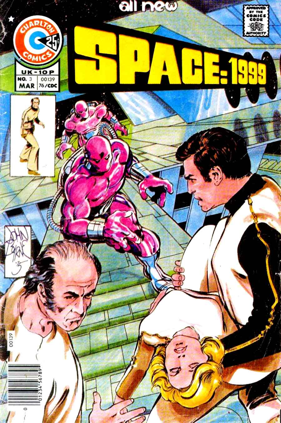 Space 1999 v1 #3 chalrton bronze age comic book cover art by John Byrne