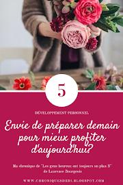 """La chronique de """" Les gens heureux ont toujours un plan B """" de Laurence Bourgeois"""