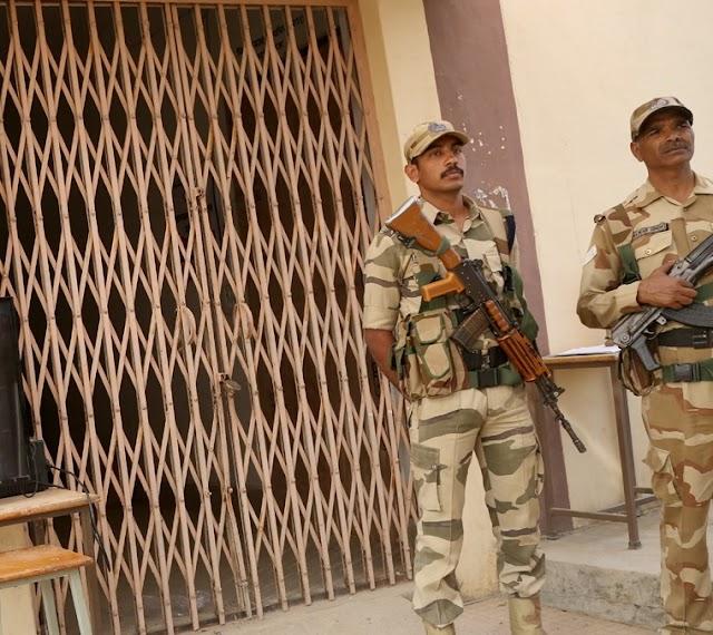 ईवीएम की सुरक्षा संगीनों के साए में.. कलेक्टर एसपी ने स्ट्रांग रूम की सुरक्षा देखी, मतगणना स्थल का जायजा लिया..