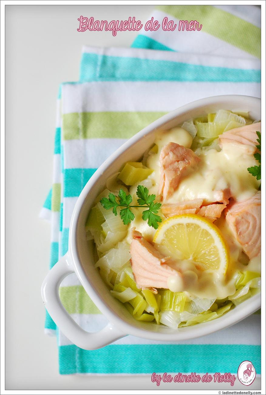 la dinette de nelly blanquette de la mer saumon poireau sauce vin blanc comte. Black Bedroom Furniture Sets. Home Design Ideas