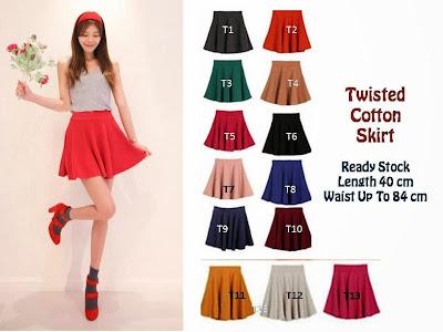 Jual Online Flare Skirt Aneka Warna Termurah