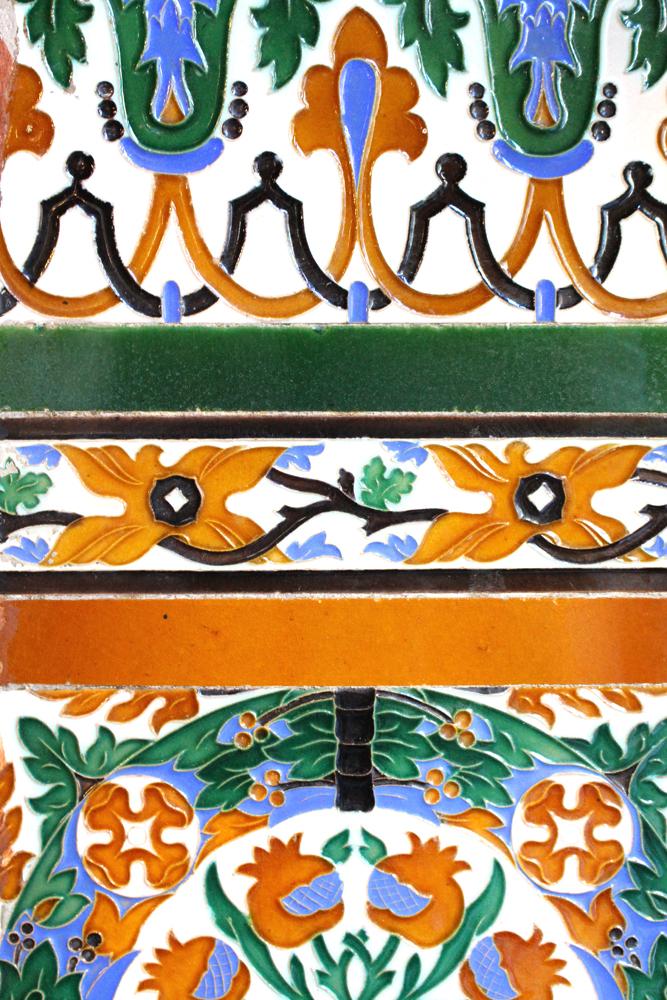 Vintage tiles in Bilbao, Spain - London travel blog