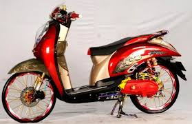 Modifikasi Honda scoopy hello kity