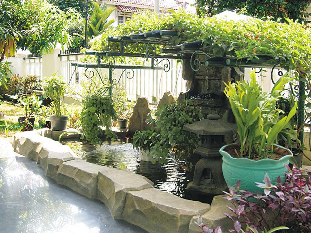 30 Desain Taman Dalam Rumah Segar Cantik Dan Eksotis