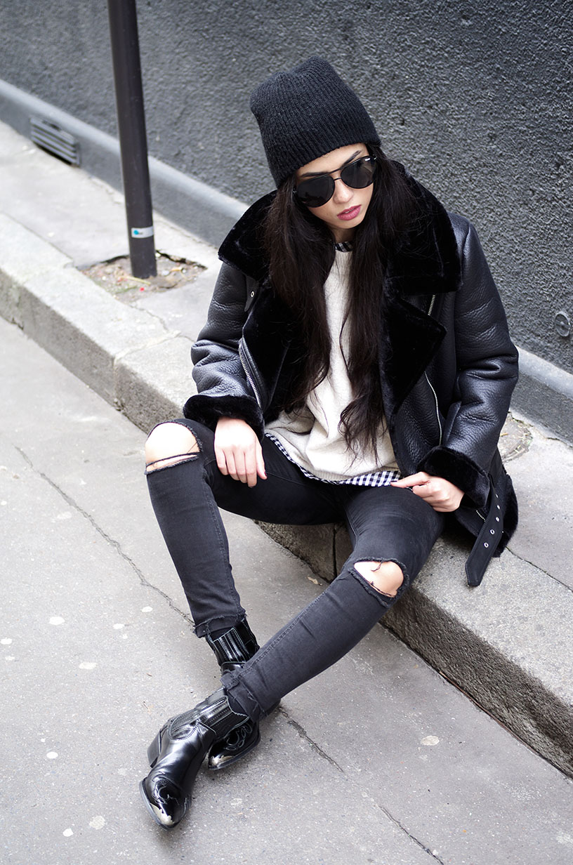 Elizabeth l Bombardier jacket outfit l Zara Forever21 Mango l THEDEETSONE l http://thedeetsone.blogspot.fr