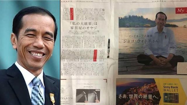 Sosok Jokowi Dimuat di Koran Jepang Sebanyak 2 Halaman, Ulasannya Penuh Pujian dan Suri Teladan