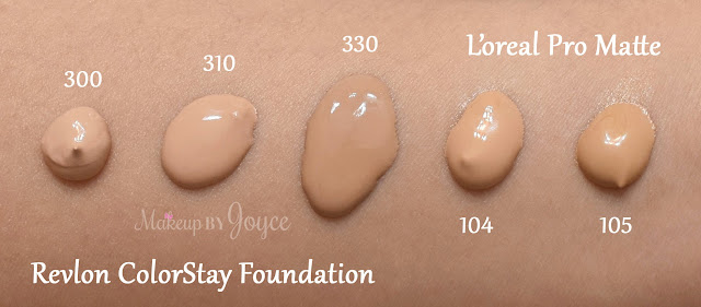 L'oreal Infallible Pro-Matte 24hr Foundation 104 Golden Beige Swatch