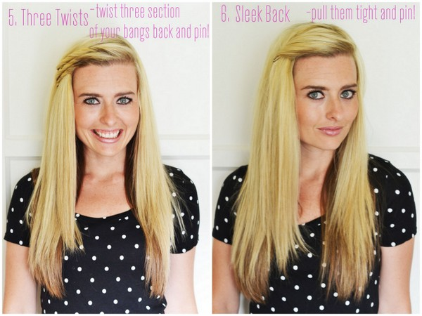 6 Ways To Pull Back Your Bangs The Shine Project