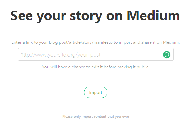 Import Existing Story from Your Website to Medium Blog