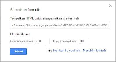 Membuat Contact Form dengan Google Drive