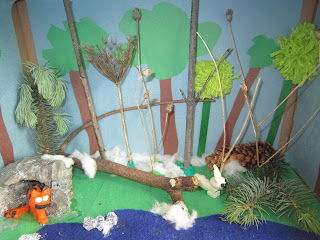 Canadian Lynx diorama, school work, school project, homework, kids crafts