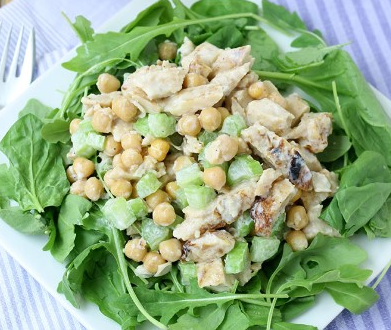 HONEY GARLIC CHICKEN CHICKPEA SALAD