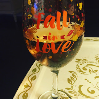 Fall wine glass