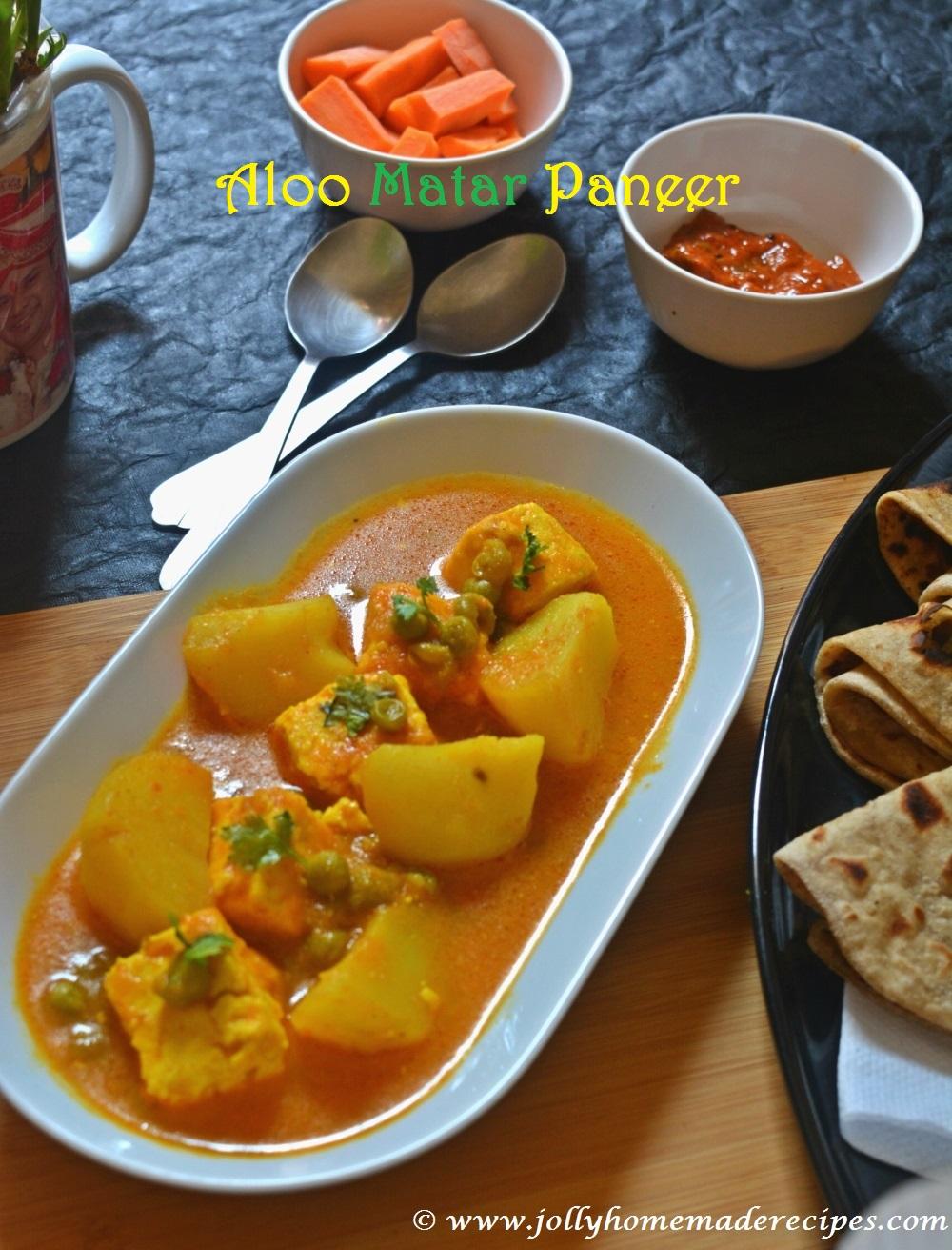 recipe: aloo matar paneer (simmered potatoes with peas and paneer) [6]
