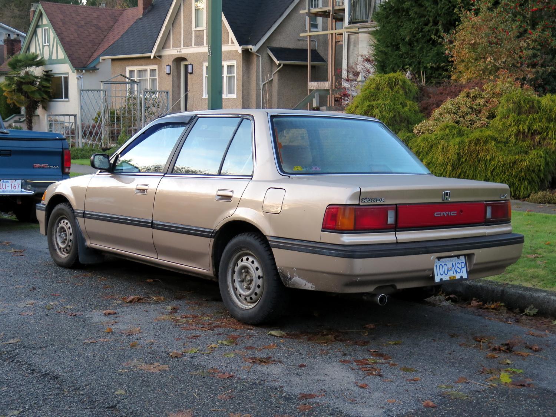 old parked cars vancouver 1990 honda civic lx. Black Bedroom Furniture Sets. Home Design Ideas