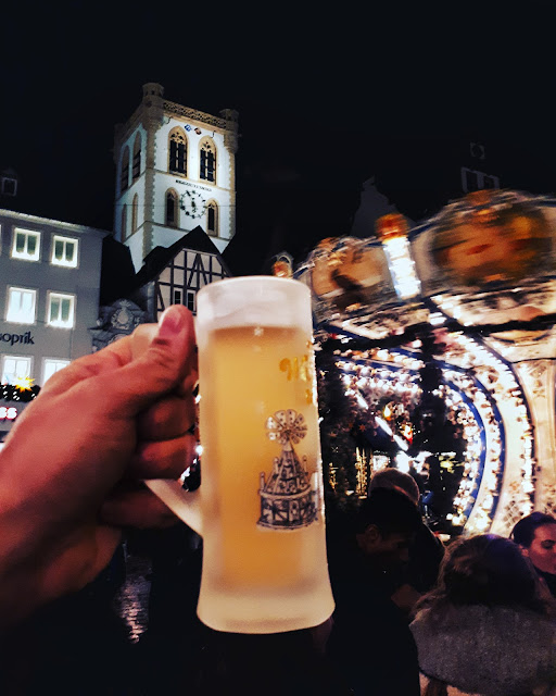 Viez at Trier Christmas market in Germany
